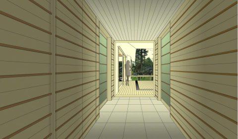 インテリアパース ―時空トンネル―