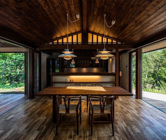 亀甲模様の家