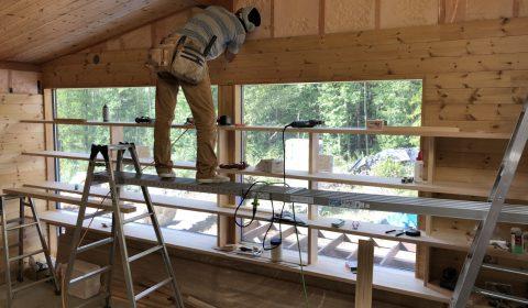 木工事終盤へ ー現場の空気感ー