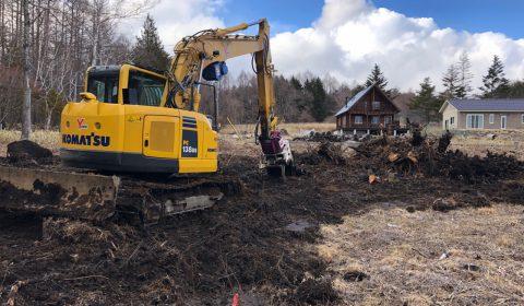 抜根工事 ―大地を整える―