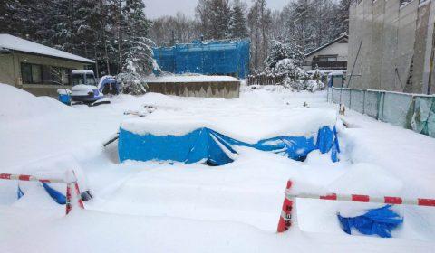 コンクリート養生 ―雪が降る前に―