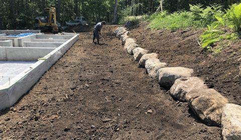 石並べ ―基礎工事完了―
